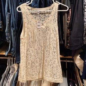 New with tags, Ivory Express tank top.